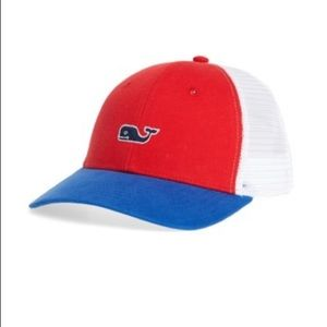 Vineyard Vines Red White & Blue Trucker Hat!